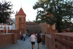 Vestingsmuren in Warshau Polen royalty-vrije stock foto