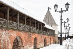 Vestingsmuur van Kazan het Kremlin stock foto's