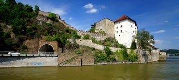 Vestingwerk in Passau stock afbeelding