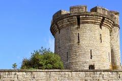 Vestingwerken van een kasteel Stock Foto