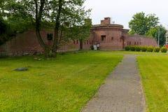 Vestingwerkenmuren in Kolobrzeg Royalty-vrije Stock Foto