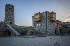 Vestingwerkmuren en watchtowers van de vesting Rabat Stock Foto