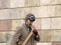 Vestiti antiquati d'uso del tweed dell'uomo Immagine Stock