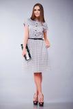 Vestiti casuali e vestito da stile della donna di affari dell'ufficio Fotografia Stock Libera da Diritti