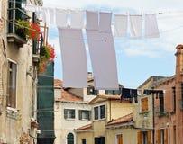 Vestiti che appendono fuori per asciugare Venezia Fotografia Stock Libera da Diritti