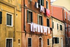 Vestiti che appendono a Venezia Fotografia Stock Libera da Diritti