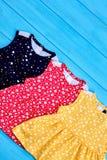 Vestiti d'annata di estate del bambino di stile Immagine Stock Libera da Diritti