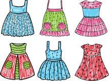 Vestiti da estate per una bambina Fotografia Stock