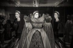 Vestiti dalla regina s, Buckingham Palace, Londra Fotografie Stock Libere da Diritti