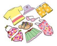 Vestiti dalla spiaggia Illustrazione di Stock