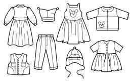 Vestiti dei bambini Immagine Stock