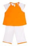 Vestiti dei bambini su bianco Immagine Stock Libera da Diritti
