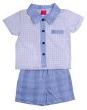 Vestiti dei bambini sul bianco Fotografie Stock