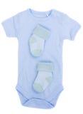 Vestiti del bambino blu Fotografia Stock Libera da Diritti
