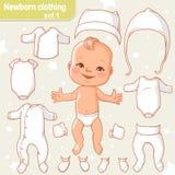 Vestiti del bambino impostati Immagine Stock Libera da Diritti