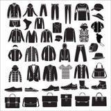 Vestiti del modo degli uomini ed accessori - illustrazione Fotografia Stock Libera da Diritti