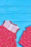 Vestiti delicati di estate della neonata Fotografie Stock Libere da Diritti