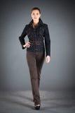 Vestiti dell'accumulazione dei jeans Immagini Stock