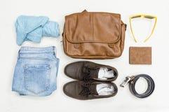 Vestiti dell'annata di estate di vista superiore Fotografia Stock Libera da Diritti
