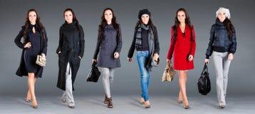 Vestiti della signora dell'accumulazione di inverno di autunno Immagine Stock Libera da Diritti