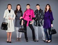 Vestiti della signora dell'accumulazione di inverno di autunno Fotografia Stock