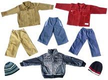 Vestiti della sorgente del ragazzo Fotografie Stock Libere da Diritti