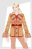 Vestiti delle donne di inverno. Fotografia Stock