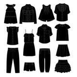 Vestiti delle ragazze abbozzi Immagini Stock