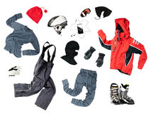 Vestiti dello sciatore del bambino Fotografia Stock