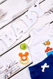 Vestiti di estate di alta qualità del neonato Fotografia Stock Libera da Diritti