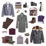 Vestiti di inverno dell'uomo immagine stock libera da diritti