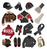 Vestiti di inverno per gli uomini Immagine Stock