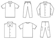 Vestiti di Menâs Immagini Stock Libere da Diritti