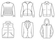 Vestiti di Menâs Immagine Stock