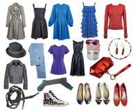 Vestiti di modo dell'accumulazione fotografia stock