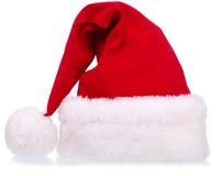 Vestiti di natale - cappello della Santa Fotografie Stock