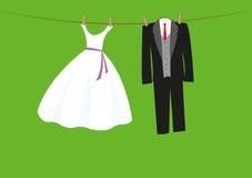 Vestiti di nozze Fotografia Stock Libera da Diritti