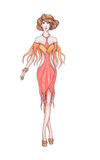 Vestiti di progettista di schizzo, stilista Immagine Stock Libera da Diritti