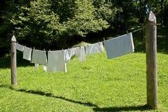 Vestiti di secchezza Immagine Stock