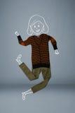 Vestiti disposti nell'azione con il disegno della donna Immagini Stock Libere da Diritti