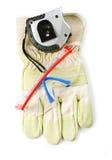Vestiti e strumenti dell'operaio Immagini Stock Libere da Diritti