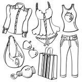 Vestiti ed accessori illustrazione vettoriale