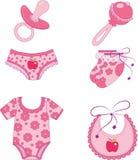 Vestiti ed accessori dei bambini. Fotografie Stock Libere da Diritti