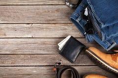 Vestiti ed accessori del ` s degli uomini Fotografia Stock