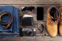 Vestiti ed accessori del ` s degli uomini Immagini Stock Libere da Diritti