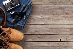 Vestiti ed accessori del ` s degli uomini Immagini Stock