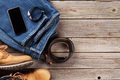 Vestiti ed accessori del ` s degli uomini Immagine Stock