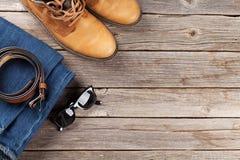 Vestiti ed accessori del ` s degli uomini Immagine Stock Libera da Diritti