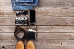 Vestiti ed accessori del ` s degli uomini Fotografie Stock