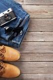 Vestiti ed accessori del ` s degli uomini Fotografie Stock Libere da Diritti
